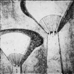 Laura Hirennau brutalismo architettura incisione disegno