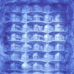 Laura Hirennau acquaforte disegno architettonico incisione arte contemporanea