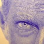 portrait de Vincent Cassel par l'artiste Konrad, stylo sur papier,detail